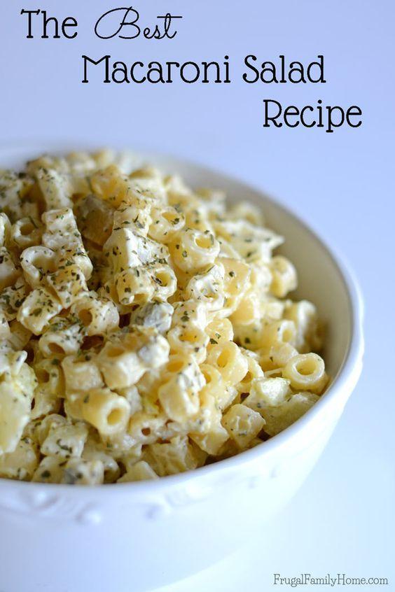 Best Macaroni Salad Recipe Best Macaroni Salad Best Pasta