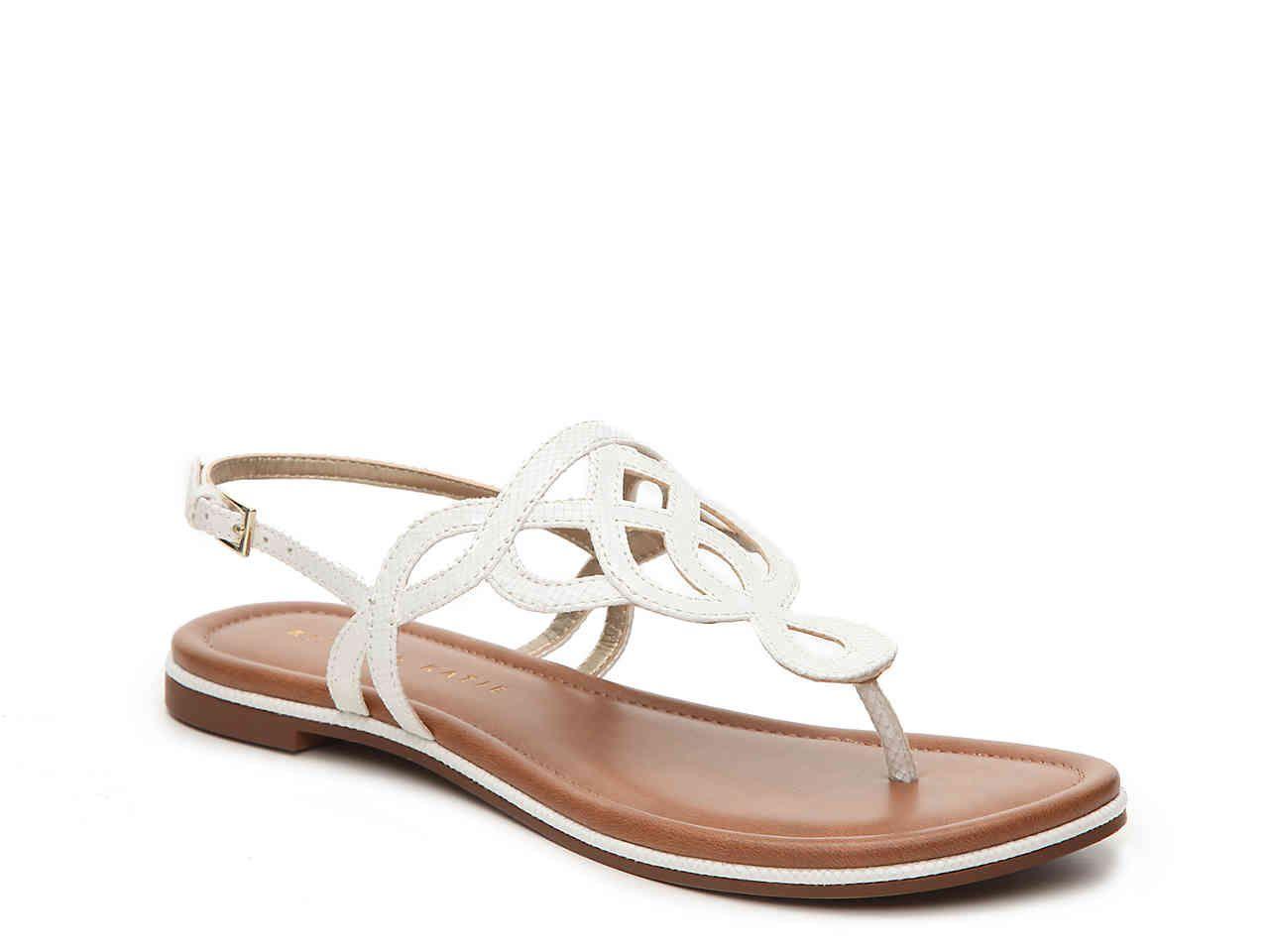 5753640a1b7f DSW - Kelly   Katie Poppie Flat Sandal Size 7.5 Preferably White   Black
