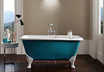 Gietijzeren baden op pootjes landelijke en klassieke badkamer