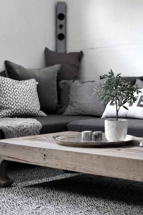 Inspirational I love the grey Beautiful - cushion coffee table Plan