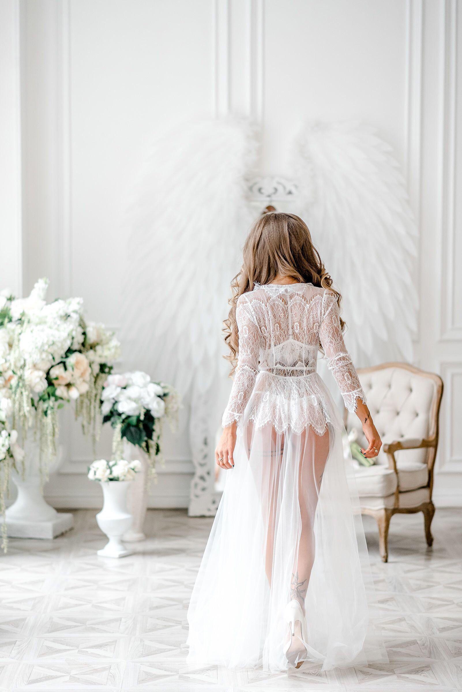 кружевное белое белье невест