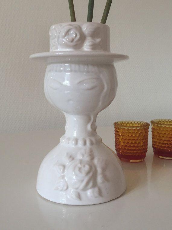 Vintage Rosa Ljung Sweden Vase Retro Face Vase Deco