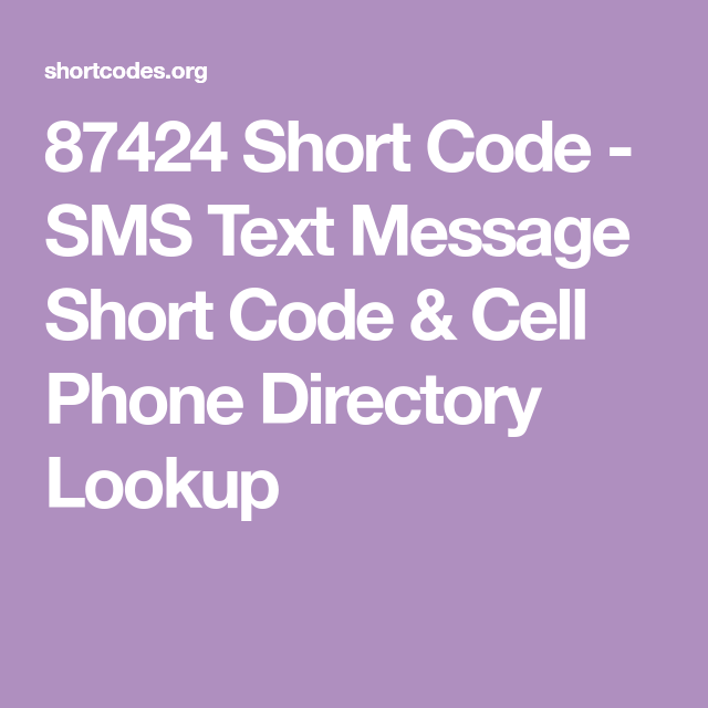 87424 Short Code With Images Sms