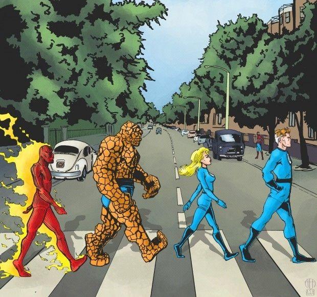 Resultado de imagem para quarteto fantástico na abbey road