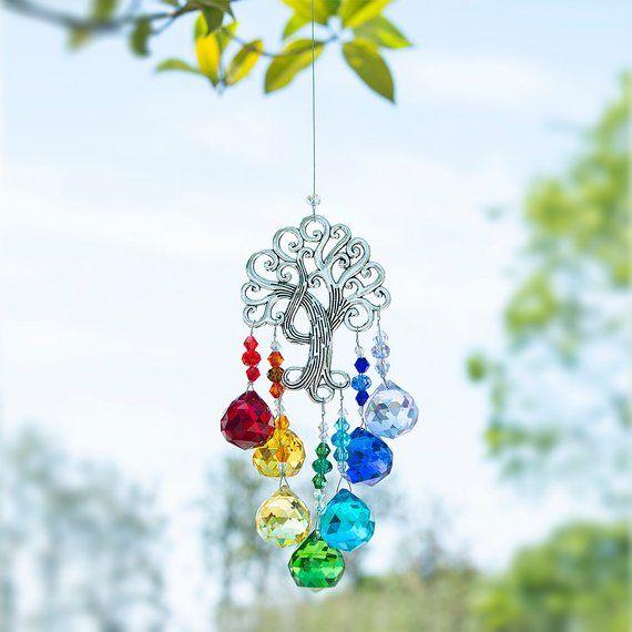 78b890edf Rainbow Makers Suncatchers Crystal Fantasy Sun Cacther for Window Ornament  Chakra Pendant, Tree of L