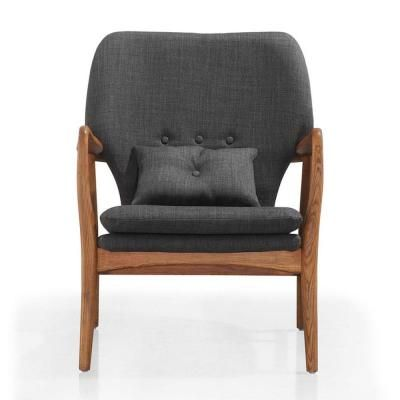 Best Ceets Charcoal Gray Bradley Accent Chair Grey Furniture 640 x 480