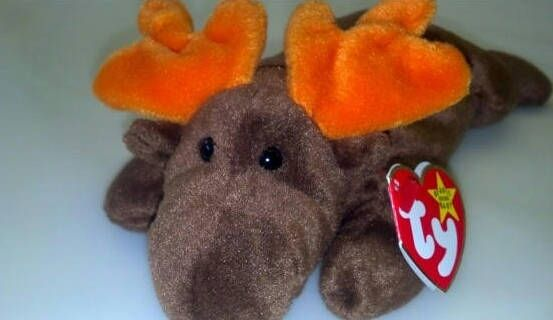 558f994b472 Chocolate the Moose RARE Vintage 1993 from Original 9 TY Beanie Baby  Release PVC Pellets No Star Gift for Dad Alaska Man Cave Toy Christmas by  ...