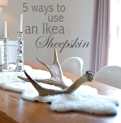 $30 Need To Buy One From IKEA To Use As A Table Runner! Sheepskin  ThrowWhite Sheepskin RugIkea ...