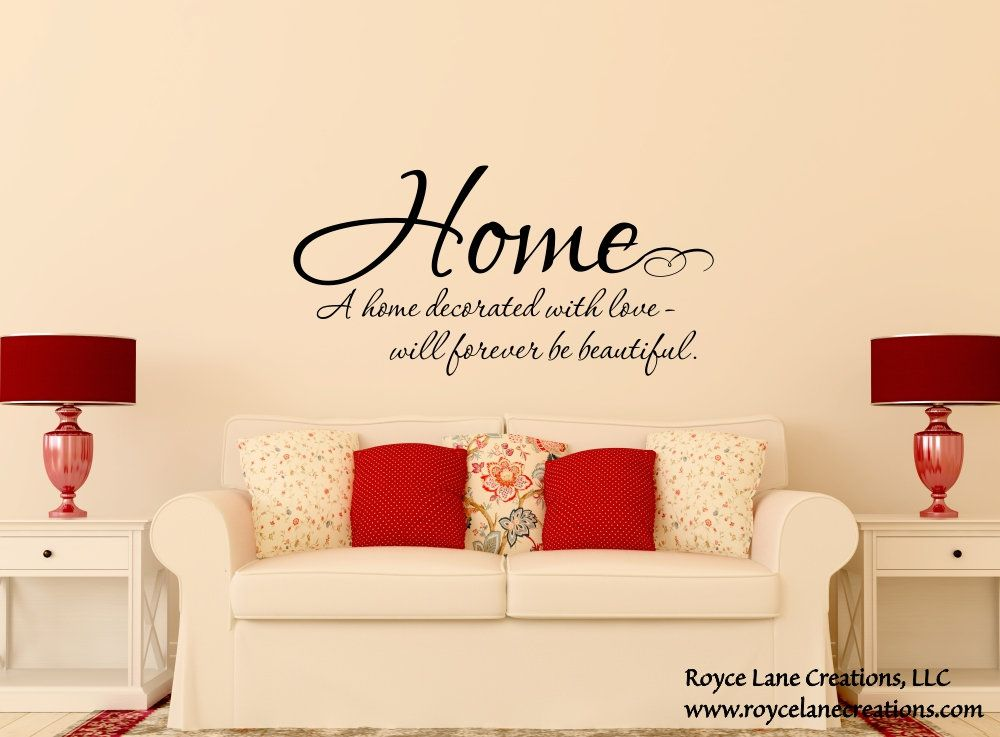 Home Quote Decal Family Love Wall Decals Family Quote Wall