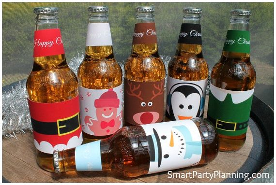 Cute Christmas Printable Beer Labels Smart Party Planning