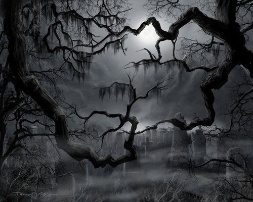 scary cemetery haunted graveyard black marches. Black Bedroom Furniture Sets. Home Design Ideas