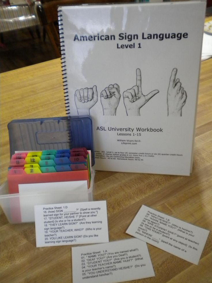 ASL Sign Practice Box Deaf people, American sign language and Sign
