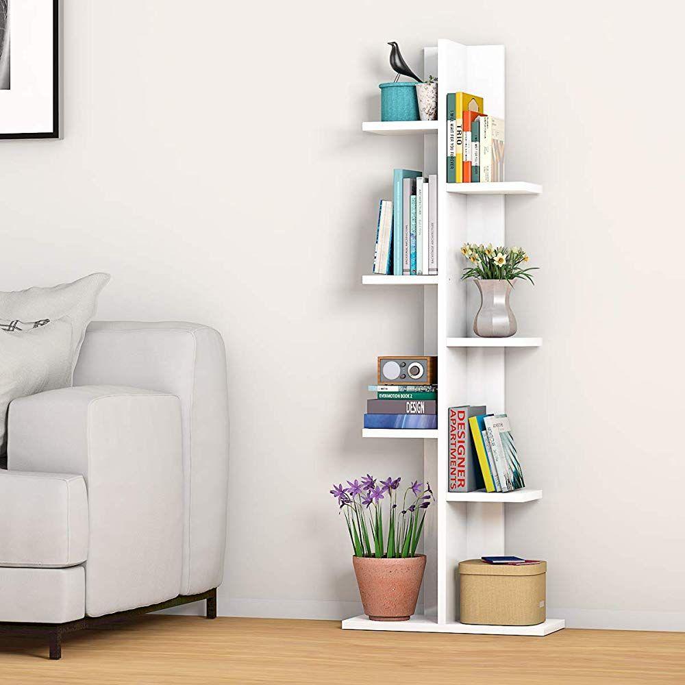 Giantex 7 Tier Bookshelf In 2020 Space Saving Storage Shelves Bookcase
