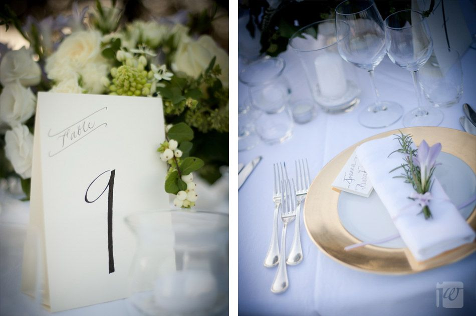formal and vintage reception setting