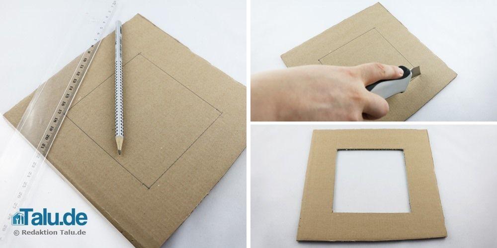 Bilderrahmen Aus Pappe Papier Selber Bauen Bastelanleitung