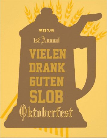 Custom Oktoberfest Invitation with some hops and juicy German words you can change of course.