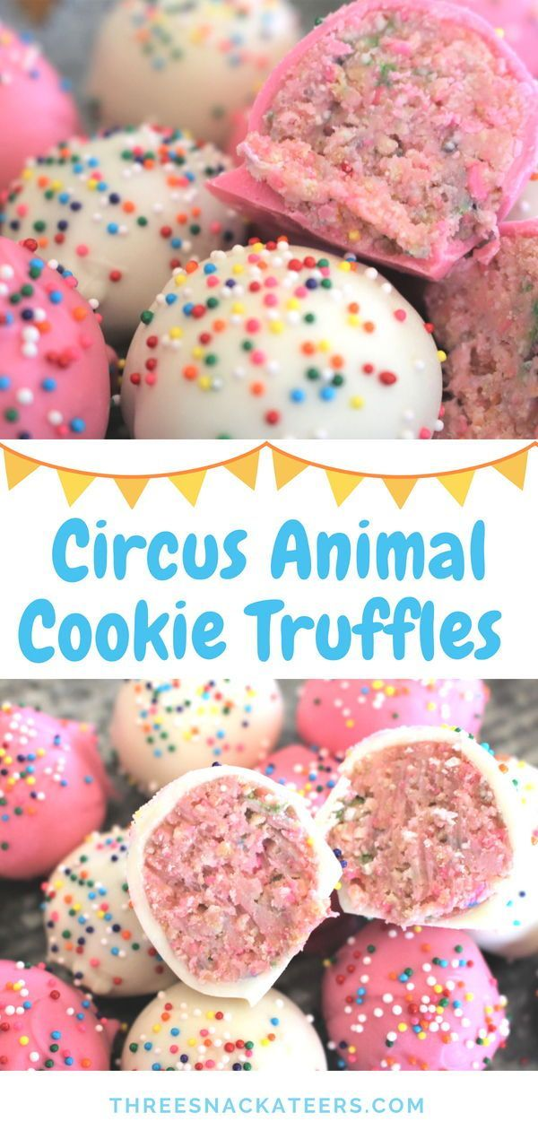 No-Bake Circus Animal Cookie Truffles images