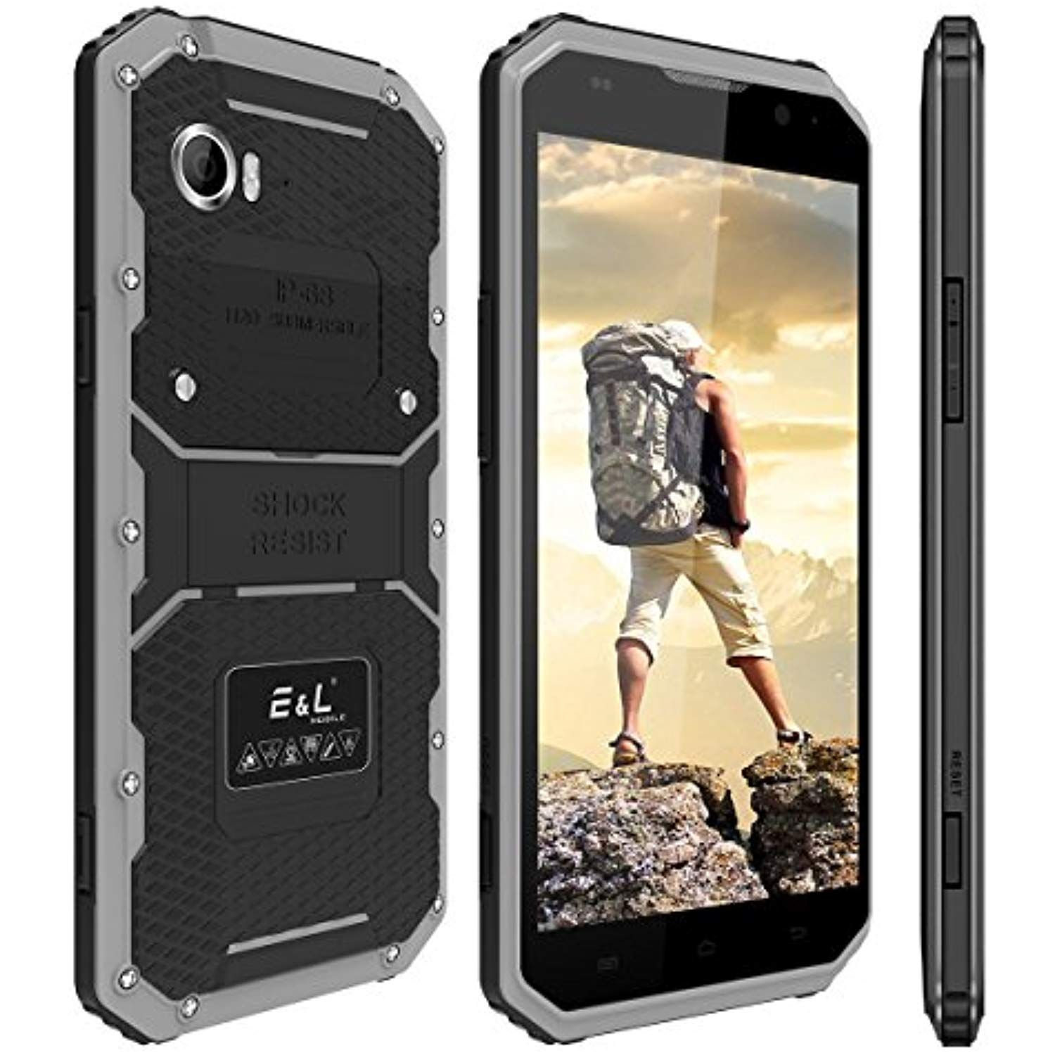 Eandl W9 4g Lte Rugged Smartphone Unlocked 6 0 Inch Fhd Screen Ip68 Waterproof Dustproof Shockproof 16gb 2gb Android Camera 8mp Military Grade Gsm