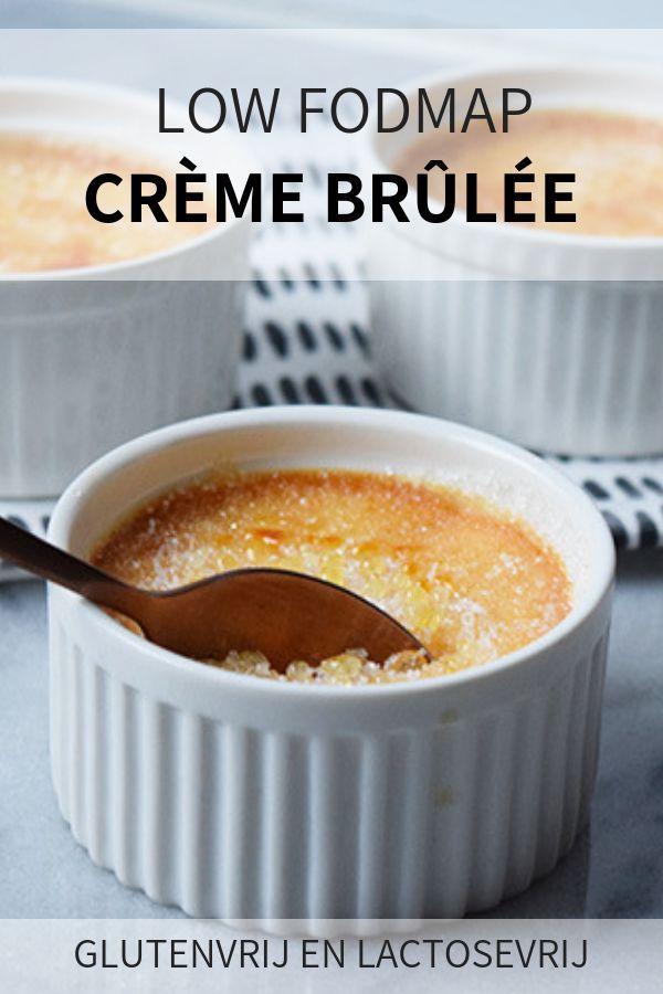 Low FODMAP creme brulee (glutenvrij en lactosevrij) #cremebrulée