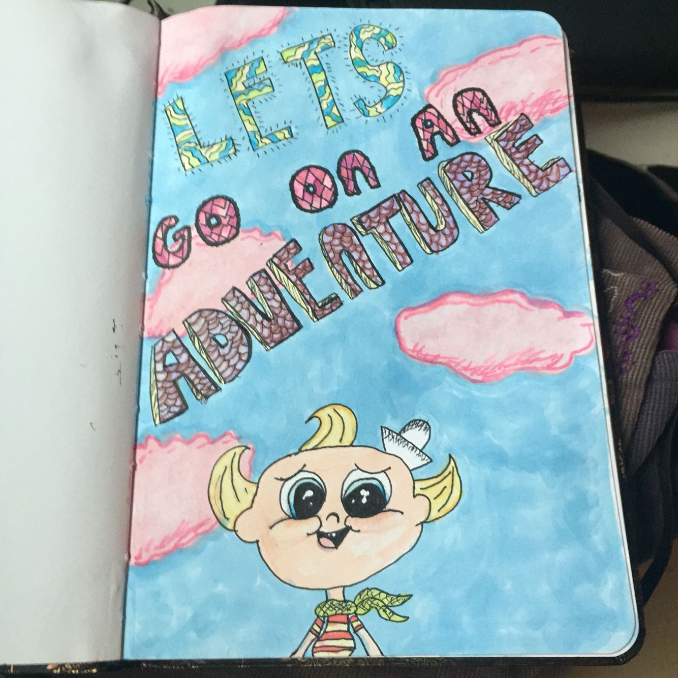 A Flapjack drawing I made I love this show. #drawing #art #flapjack #adventure #letsgoonanadventure #prismacolor #prismacolormarkers #crystalcatcreations
