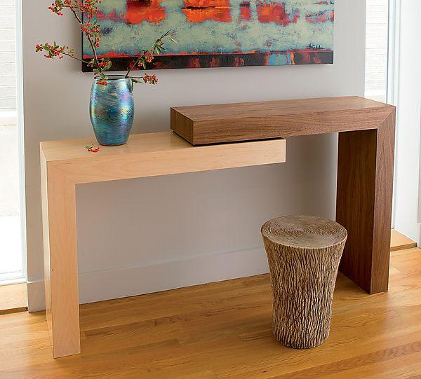 Stepped Console By Todd Leback Wood Console Table Artful Home Ideias De Decoração Decoração De Casa Ideia Moveis