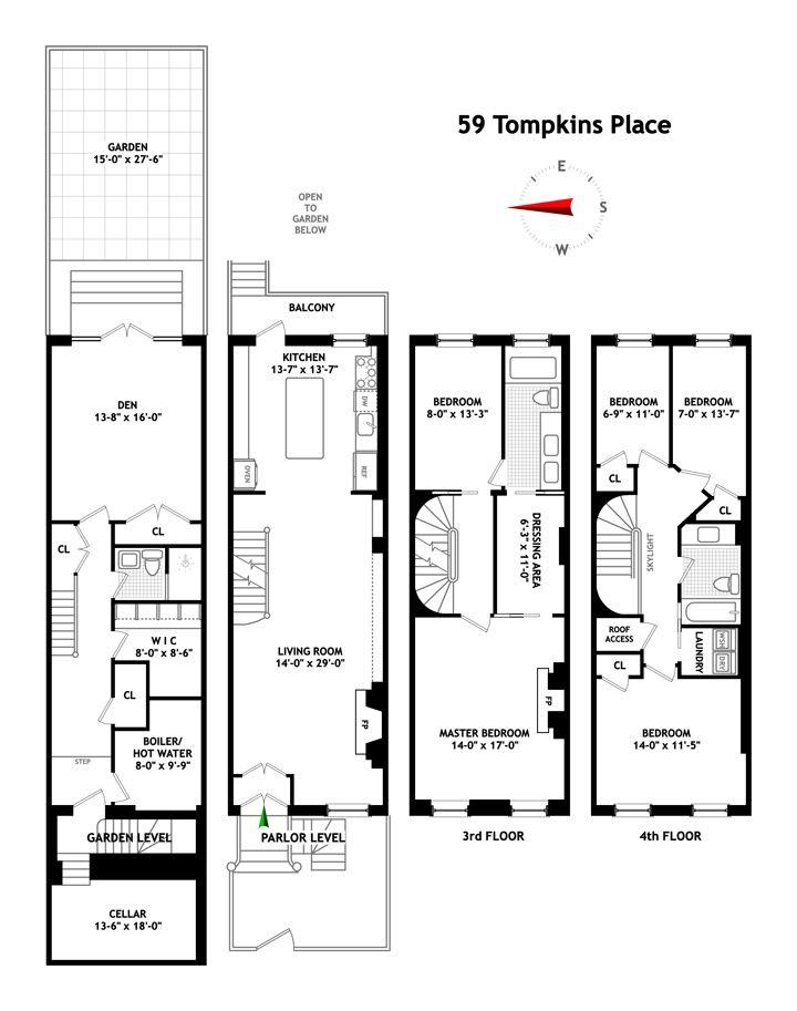 Brown Harris Stevens Narrow House Plans Home Building Design House Plans