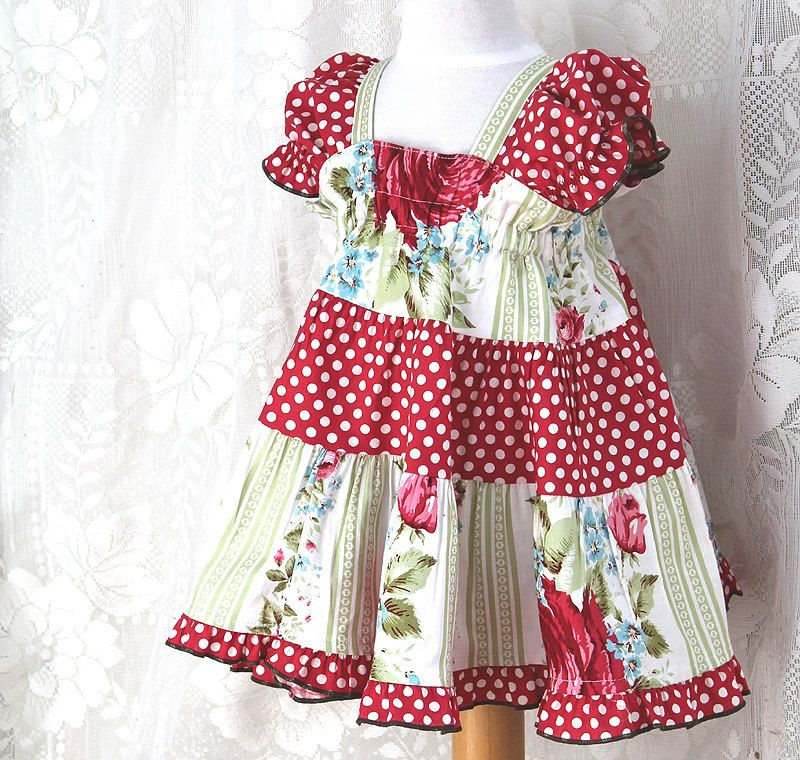 8c51439e8 Red Rose   Polka Dot 100% Cotton Baby Dress
