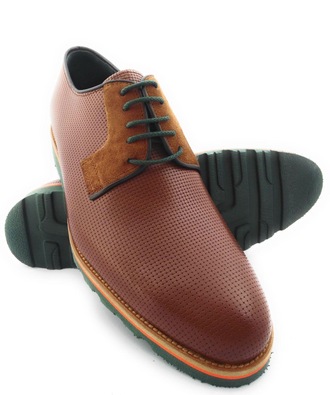 Zerimar Zapatos con Alzas Interiores para Caballeros Aumento 7 cm Zapato Fabricado EN Piel Vacuno Color Burdeos Talla 43 WKPssDz77