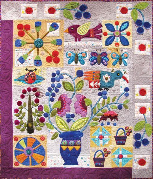 Sue Spargo. Folk Art Quilt Quilting Ribbons Supplies Hand Dyed ... : art quilts pinterest - Adamdwight.com