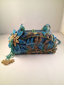 Mary Frances Handbag Unique Design With Unexpected Textures An Colors Ebay