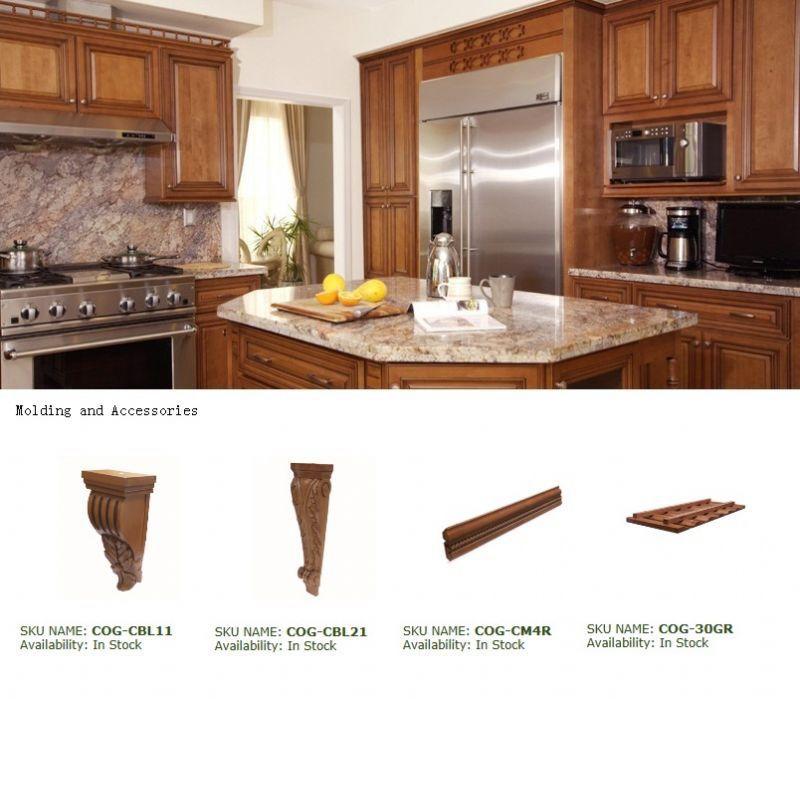 Glazed Honey Maple Raised Panel Kitchen Cabinets Quartz Granite