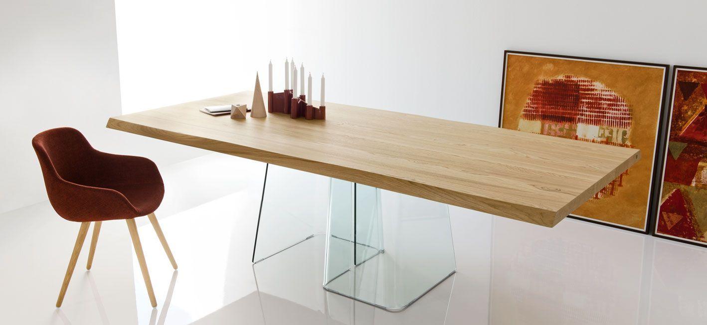 Tavolo Calligaris Vetro Trasparente.Table With Glass Base Volo Calligaris Cs 4101 Rl B 200 Con