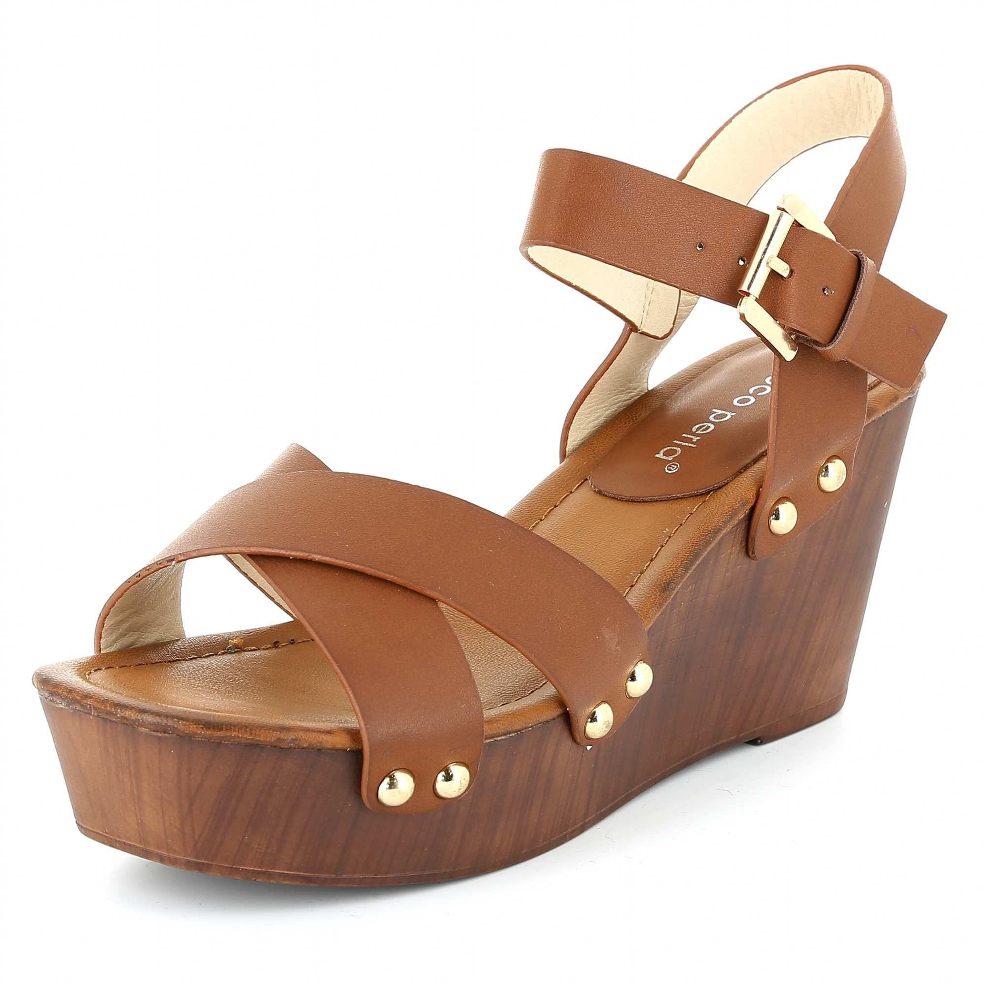 8d052f65b21 Sandalias con cuña de imitación madera Mujer - Kiabi - 25