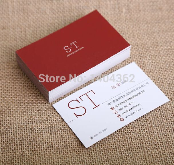 Free design custom business cards business card printing paper free design custom business cards business card printing paper calling cardpaper visiting card 500 pcslot reheart Images