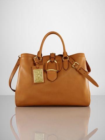 767e41bb8d Calfskin Stirrup Zip Tote - Ralph Lauren Ralph Lauren Handbags -  RalphLauren.com