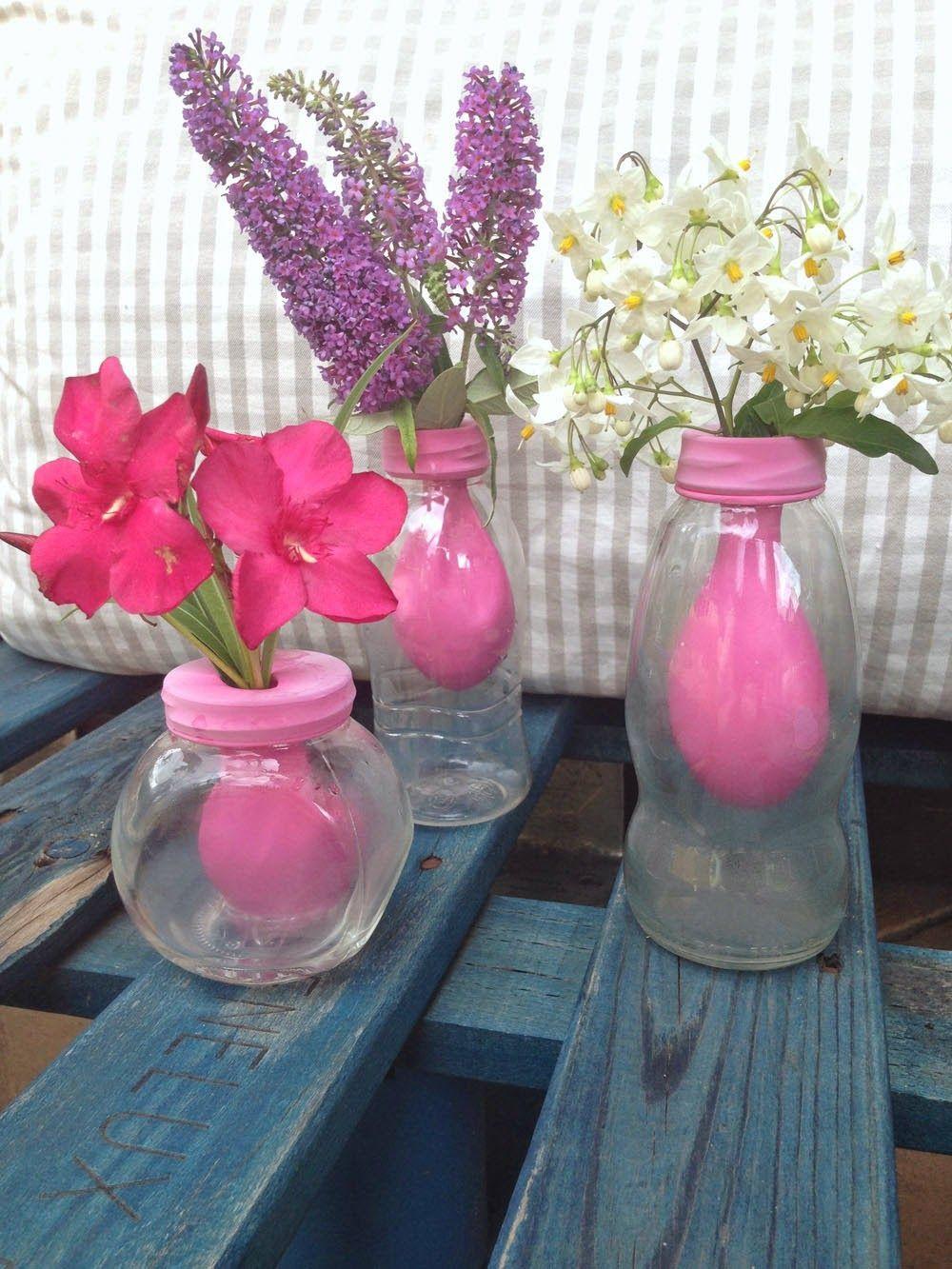 tolle idee kleine vasen mit lufballon innenleben f r zuhause pinterest kleine vasen. Black Bedroom Furniture Sets. Home Design Ideas