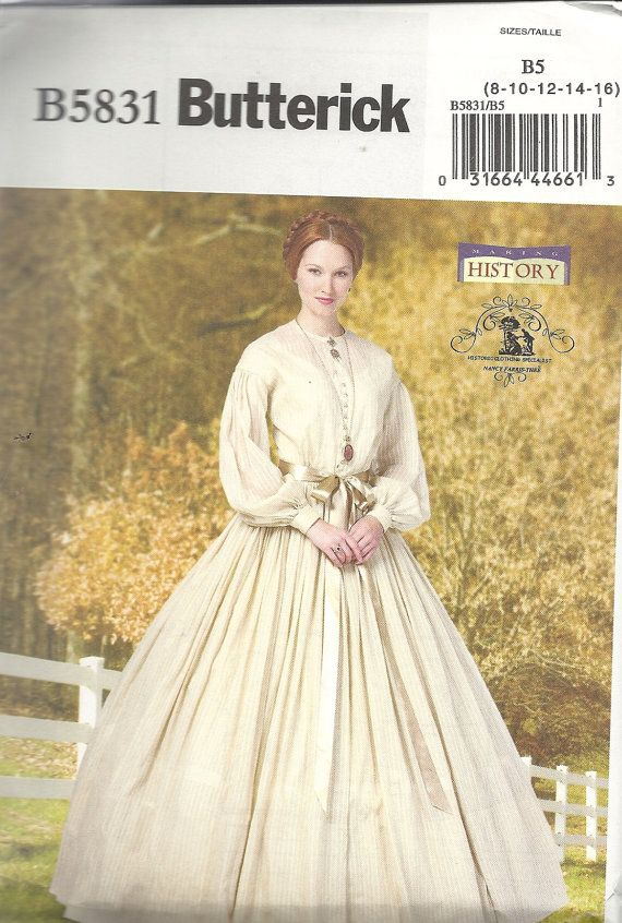 Civil War Era Dress and Petticoat Pattern by by TLCsTreasures