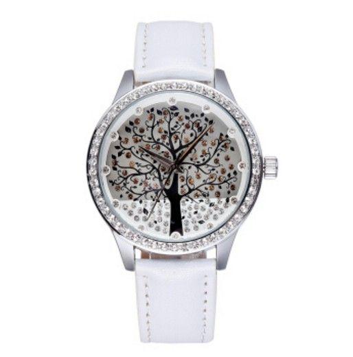 44617e6404f Dámské hodinky se zirkony strom bílé – dámské hodinky Na tento produkt se  vztahuje nejen zajímavá