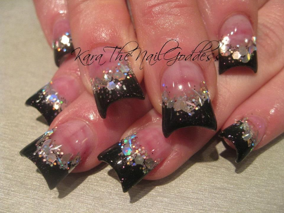 Flares #french #duck feet #acrylic nails | Cool nails | Pinterest ...