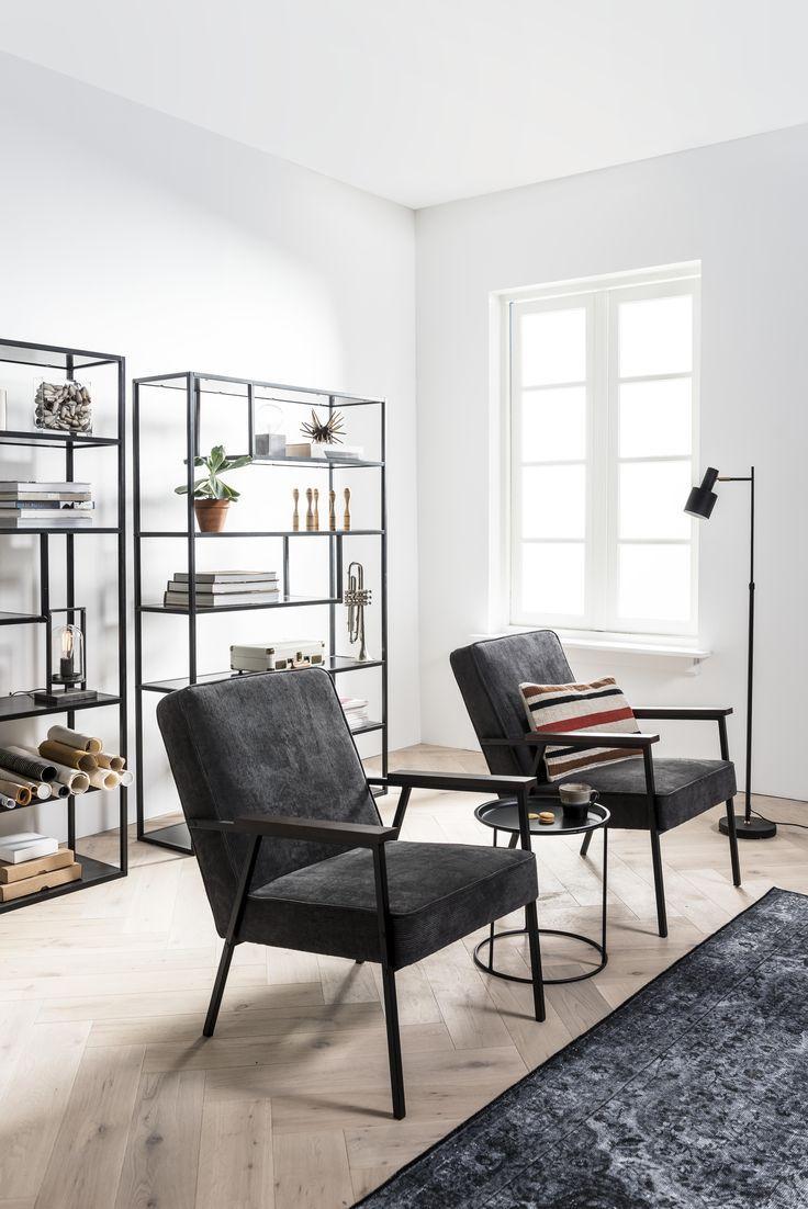 Artist Home | woonkamer, vintage stoelen, industriële stellingkast ...