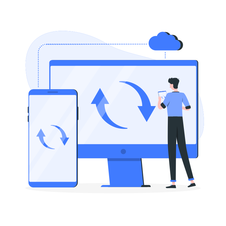 Real Time Sync By Freepik Stories Svg Png Illustration Technology Internet Sync Digital Upload Con In 2020 Cloud Computing Services Cloud Computing Development