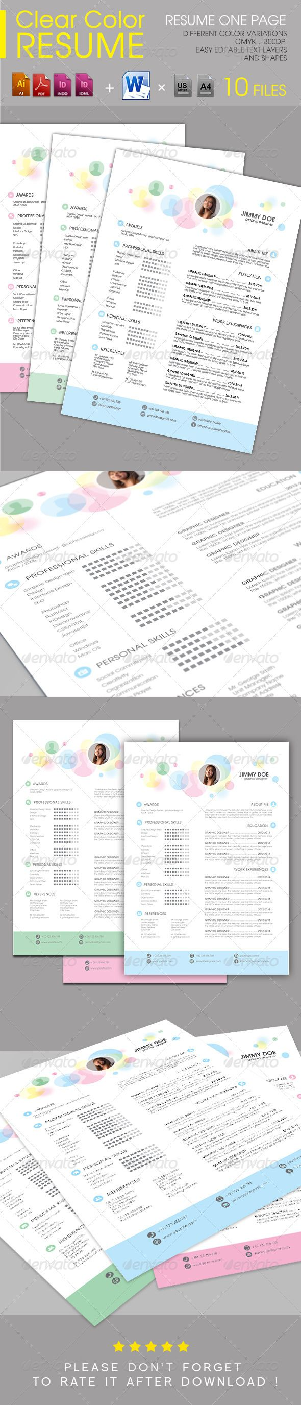 Clear Color Resume