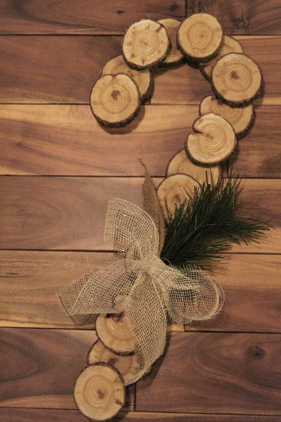 Rustic Candy Cane Wreath Christmas Wreath By