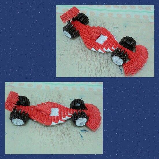 Origami 3d - carro de Formula 1