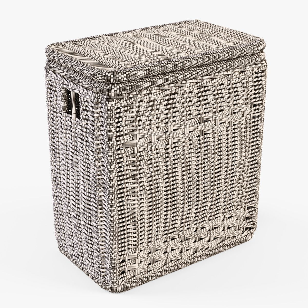 Wicker Laundry Hamper 08 Natural Color With Images Wicker