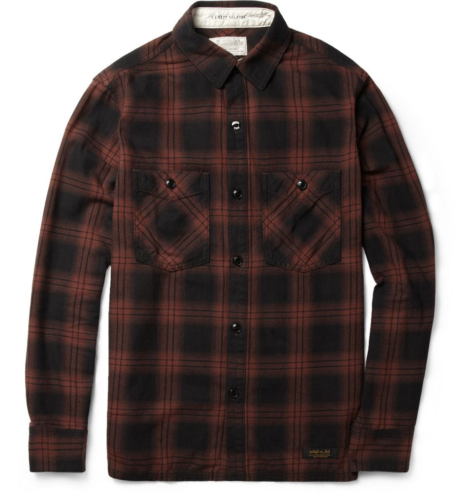 Neighborhood check cotton shirt mr porter h e pinterest mr