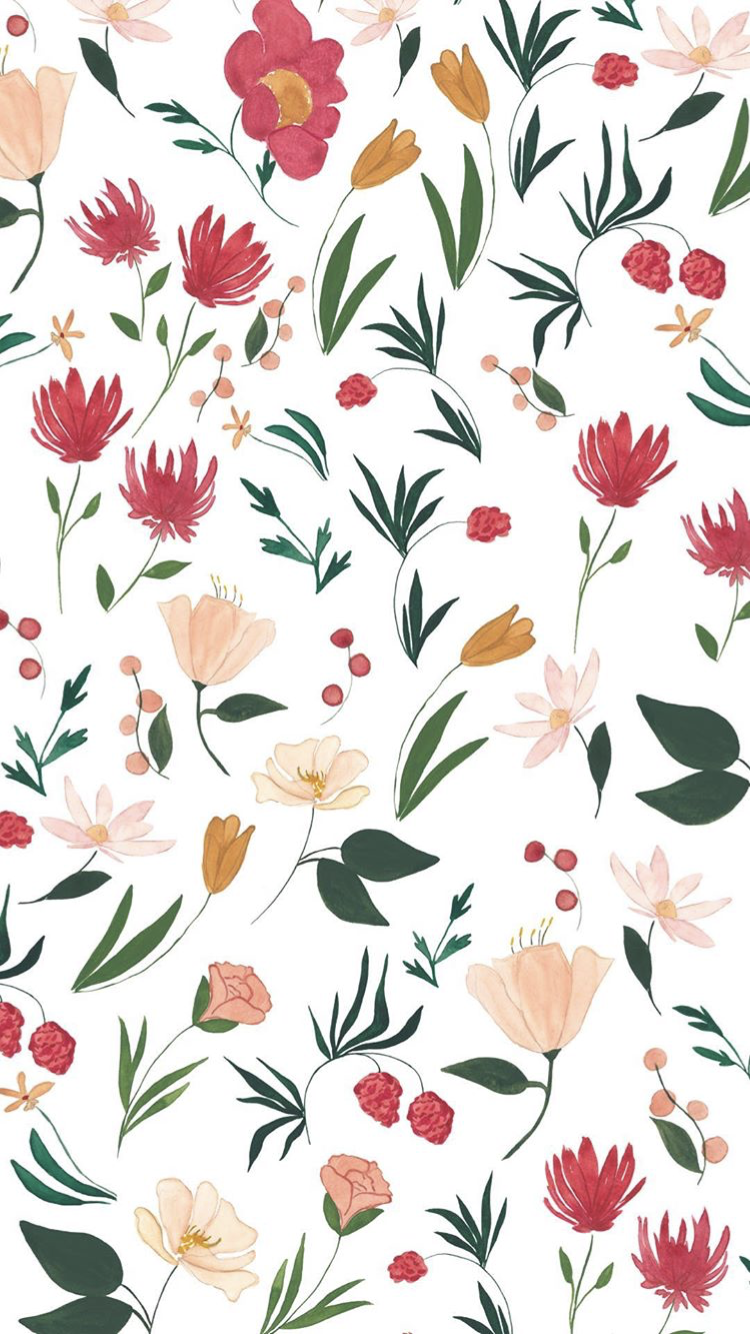 Wallpaper Iphone Floral Wallpaper Iphone Surface Pattern Design