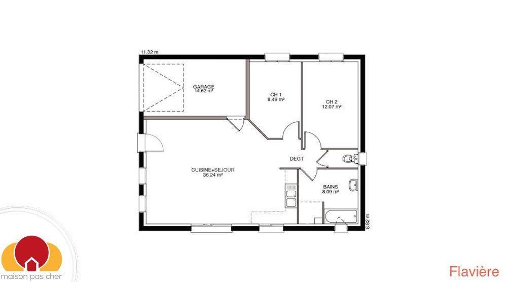 Image issue du site Web   wwwmaison-pas-cherfr/wp-content - plan maison plain pied 80m2