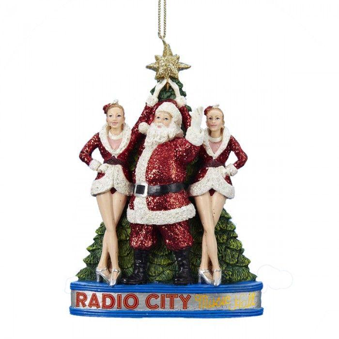 Santa Claus with the Rockettes at Radio City Music Hall Christmas Ornament  Radio City Music Hall - Santa Claus With The Rockettes At Radio City Music Hall Christmas