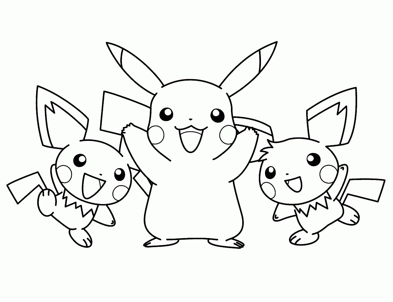 Desenhos Para Colorir Pikachu Gif 3000 2300 Pokemon Para